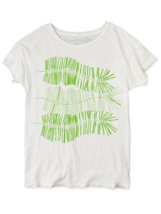 Supermaggie Ferns White Nikki Tee