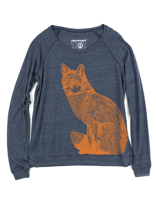 Supermaggie Fox Heather Navy Amy Eco Long Sleeve
