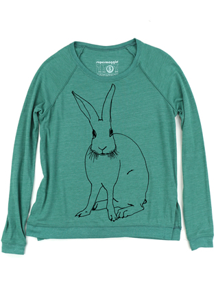 Supermaggie Funny Bunny Viridian Amy Eco Long Sleeve