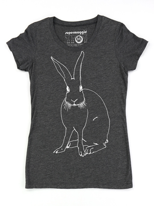 Supermaggie Funny Bunny Heather Charcoal Penelope Tee