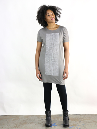 Supermaggie Grid Mineral Cleo Dress