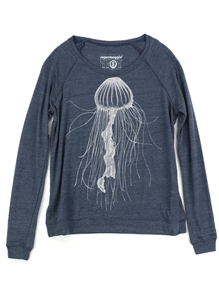 Supermaggie Jellyfish Heather Navy Amy Eco Long Sleeve