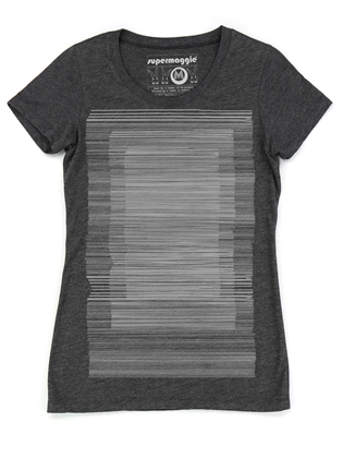 Supermaggie Lines Heather Charcoal Penelope Tee