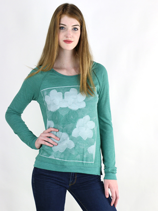 Supermaggie Magnolias Viridian Amy Eco Long Sleeve