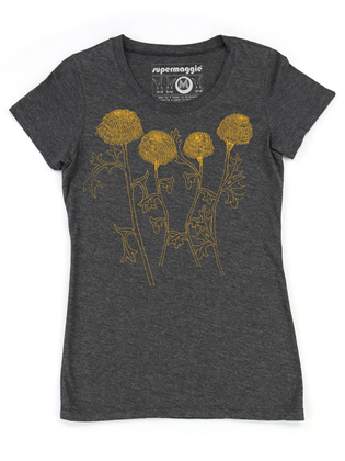 Supermaggie Mums Heather Charcoal Penelope Tee