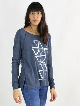 Supermaggie Prisms Heather Navy Amy Eco Long Sleeve