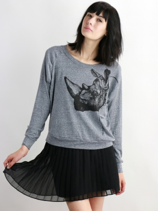 Supermaggie Rhino Heather Gray Pullover