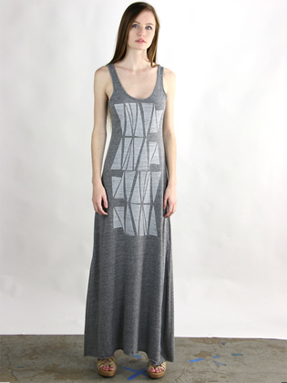 Supermaggie Zipper Heather Gray Lily Dress